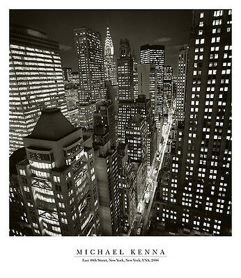26x30 NEW YORK ART PRINT - East 40th Street, NY 2006 by Michael Kenna NYC Poster