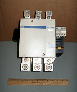 Telemecanique 400 amp contactor cat no lc1f400 600 vac 3 for 3 phase motor hp to amps