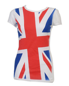 LADIES-GREAT-BRITAIN-WOMENS-T-SHIRT-VEST-TOP-8-10-12-14-OLYMPICS-LONDON-2012