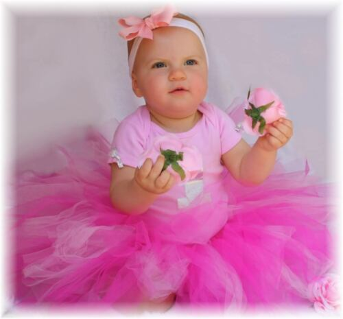 1st First Birthday Girl Tutu dress Fairy Pink many colours 1 baby 0