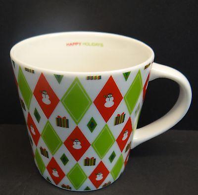 Starbucks Barista 2003 Happy Holidays 16 oz. Coffee Mug Red 40s Wrapping Paper