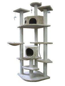 New-80-034-Beige-Cat-Tree-Condo-Furniture-Scratch-Post-Pet-House-38B