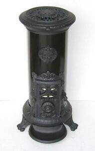 NEW-5-kw-Godin-3720-Antique-Style-Cast-Iron-Wood-Coal-multifuel-Stove-Black