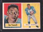 1957 Topps Emlen Tunnell #35 Football Card