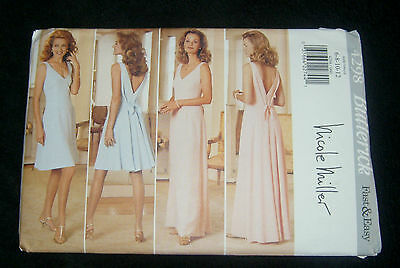 Butterick Pattern #4298 Very Easy Misses' Pullover Dress Size 6, 8, 10, 12
