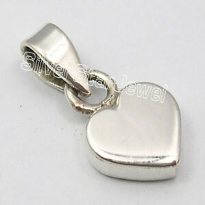 .925 Solid Sterling Silver EXTRA ORDINARY Little HEART DESIGNER Pendant 1.7 CM