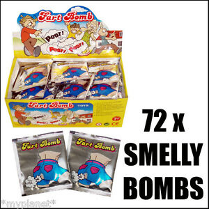FART-BOMB-BAGS-JOKE-SMELLY-PRANK-STINK-BOMBS-PARTY-BAG-TOY-FULL-BOX-72-PACKS-NEW