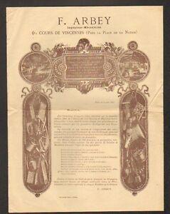PARIS-XX-Arrt-MACHINES-OUTILS-INDUSTRIELLES-pour-SCIERIE-034-F-ARBEY-034-en-1881