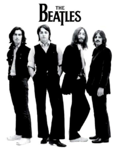 Beatles Black and White Classic Rock Music Poster S653
