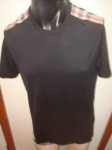 Burberry-Brit-men-039-s-black-short-sleeved-check-shoulder-panels-t-shirt-125
