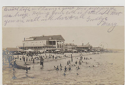 MIDLAND BEACH CASINO & BEACH REAL 1903 PHOTO BY LOEFFLER, STATEN ISLAND NYC