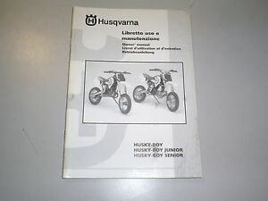1999-2002-Husqvarna-50-Husky-Boy-New-OEM-Factory-Owners-Manual-Boy-Junior-Senior