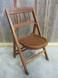 Image Is Loading Vintage Wooden Folding Chair Gt Antique Table Stand