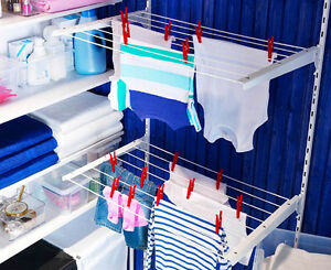 IKEA wall mount drying rack air dry laundry clothes hanger ...