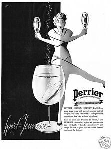 PUBBLICITA-039-1939-ACQUA-MINERALE-PERRIER-LE-CHAMPAGNE-DES-EAUX-ATLETA-SPORT-DANZA