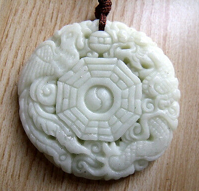 Lantian Jade eight-diagram-shaped appetizer Amulet Pendant 372