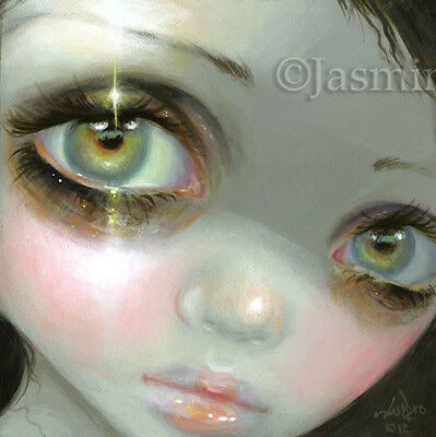 Fairy Face 205 Jasmine Becket-Griffith big eye faerie goth SIGNED 6x6 PRINT