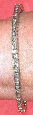 14 kt white gold diamond tennis bracelet
