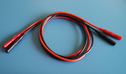 Silicone Test Leads with Straight Shrouded Banana Plugs (1 Pair)