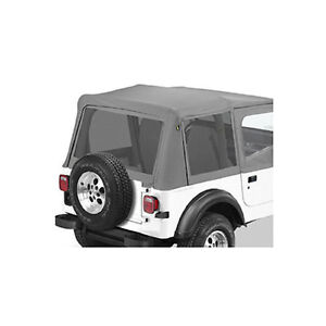 88 95 jeep wrangler yj charcoal mesh window replacement kit ebay. Black Bedroom Furniture Sets. Home Design Ideas