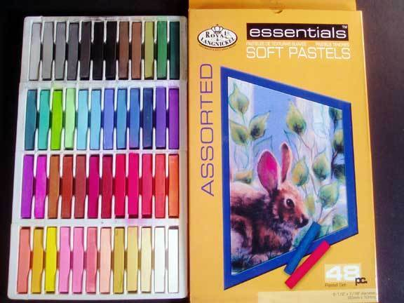 Assorted Soft Chalk Pastels 48 Color Full Size Sticks, Vibrant Colors!