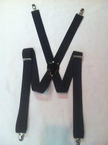 "Navy Blue 1.25 Box Diagnal 1 1/4"" Elastic Dress Suspenders Braces New"