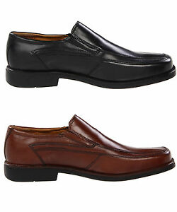 Bostonian-Mens-Spader-Black-or-Brown-Slip-on-Business-Casual-Loafers-Shoes