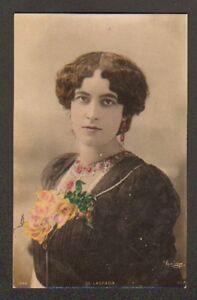ARTISTE-Mlle-DE-LASPADA-Buste-Cliche-REUTLINGER-en-1904