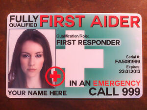 First-Aid-First-Responder-Private-Medic-Aider-custom-ID-badge-PVC-card