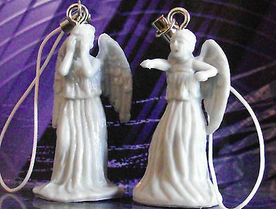 DOCTOR WHO WEEPING ANGEL CELL PHONE CHARM FIGURE WORLDWIDE SHIPPING