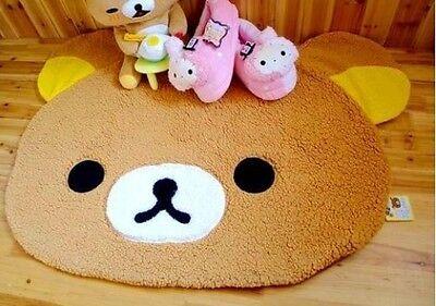 "Adorable Children San-x Yellow Rilakkuma Bear Plush Carpet Rug 16*20"" Brand New"