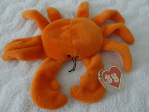Authenticated-Ty-Beanie-Baby-1ST-GEN-Orange-Digger-ULTRA-RARE-TAGS-MWMT-MQ
