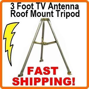 3-ft-Foot-Satellite-TV-Antenna-Mast-Tripod-Roof-Mount-36-inch