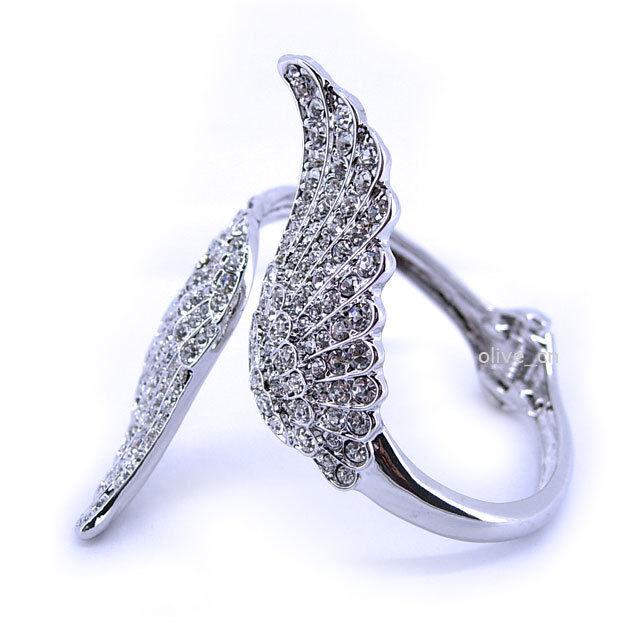 Full Crystal Big Angel Wing High Quality Use Austria Crystal Bangle BEAUTIFUL!