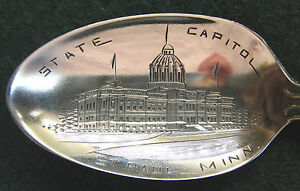 Sterling Souvenir Spoon St. Paul, MN, State Capitol, 1900