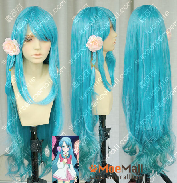 AKB0048 Sono Chieri Blue to Green Gradient Lolita Cosplay Party Wig