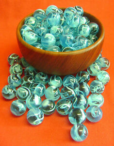 NEW-50-SKY-BLUE-SWIRL-16mm-GLASS-MARBLES-TRADITIONAL-GAME-COLLECTOR-039-S-ITEM-HOM