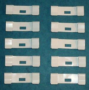 10 Pack Vertical Blind Vane Saver Off White Ivory Curved