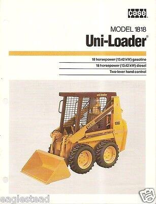 Equipment Brochure - Case - 1818 - Uni-Loader - c1987 (EB496)