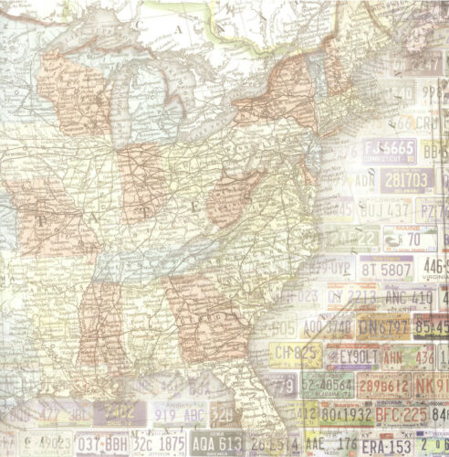 Your choice of Scrapbook Papers on US Maps Paper House Productions