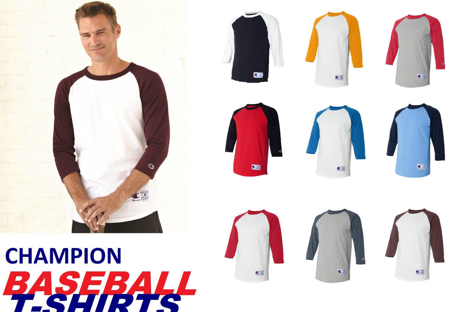 Champion - Men s 3 4 Sleeve Raglan Baseball T-Shirt - T137 1397 - 14 colors 0df54e7ce8ed7