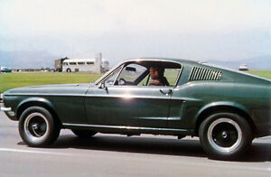steve mcqueen bullitt 8x10 ford mustang fastback color 12 muscle car classic ebay. Black Bedroom Furniture Sets. Home Design Ideas