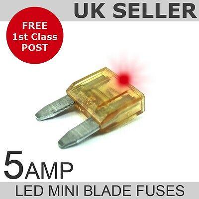 LED 5A Amp Mini Blade Fuses *Quantity 10*