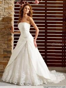 New-white-ivory-Custom-made-Amazing-Wedding-prom-Dress-Gown-All-Sizes
