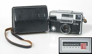 KODAK-INSTAMATIC-700-FILM-CAMERA-WITH-CASE-UNTESTED-SOLD-AS-IS