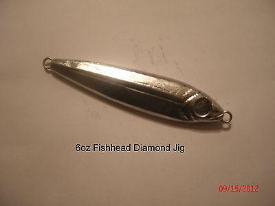6 oz Fish Style Diamond  Jig  Lure (Unplated)