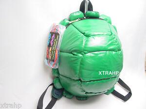 Teenage-Mutant-Ninja-Turtles-Shell-BackPack-w-4-Mask-School-Costume-TMNT