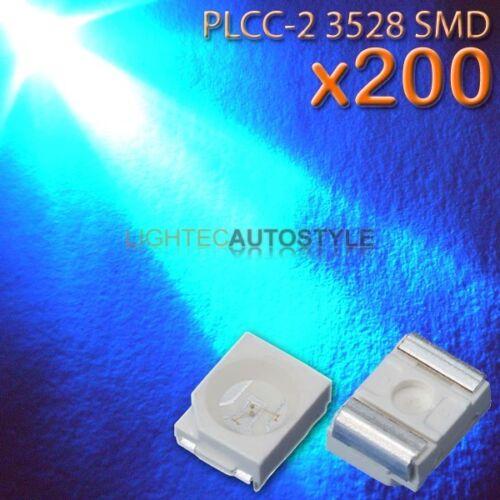 200x BLUE 3528 PLCC-2 SURFACE MOUNT ULTRA BRIGHT LEDS PLCC2 SMT SMD