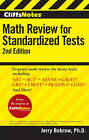 CliffsNotes Math Review for Standardized Tests by Jerry Bobrow (Paperback, 2010)
