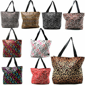 Large-Print-Beach-Bag-Purse-Tote-Bag-Animal-Assorted-Styles